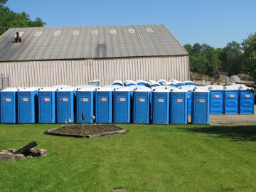 Portable Toilets on Powell's Lot